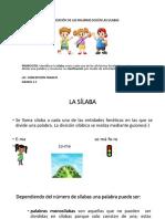 CLASIFICACIÓN DE LAS PALABRAS SEGÚN LAS SILABAS