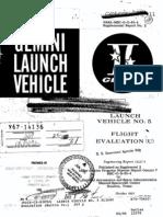 Launch Vehicle No. 5 Flight Evaluation