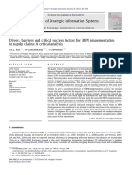 Drivers & Barriers to ERP Implementation - Research Article