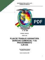 PLAN DE TRABAJO DERECHO COMERCIAL 2020 (1)