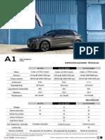 Ficha Técnica Nuevo Audi A1 Sportback Chile