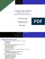 Evaluación Impacto - Clases