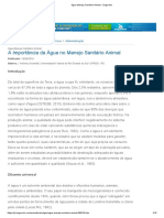 Água Manejo Sanitário Animal - Engormix