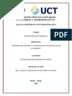 ESTUDIO Y VIABILIDAD DE UN PROYECTO DE INVERSION