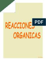 REACCIONES ORGANICAS. Silvia Contreras