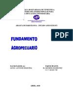 FUNDAMENTO AGROPECUARIO