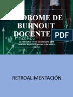 SINDROME DE BURNOUT DOCENTE II