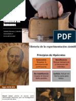 Ética de la experimentación científica en humanos
