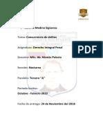CONCURRENCIA DE DELITOS-ROBERTO