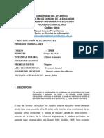 CARTA DESCRIPTIVA  POCESOS CURRICULARES 2020