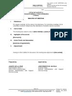 FO1-GF-04 - REV 00 -  Minutes of Meeting