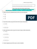 Adiciones y sustracciones de fracciones y numeros mixtos