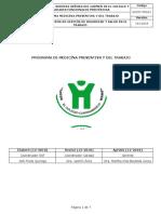 SGSST-PRG01 Programa de Medicína Preventiva y del Trabajo