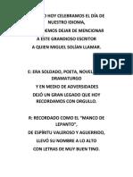 ACROSTICO DIA DEL IDIOMA 2016
