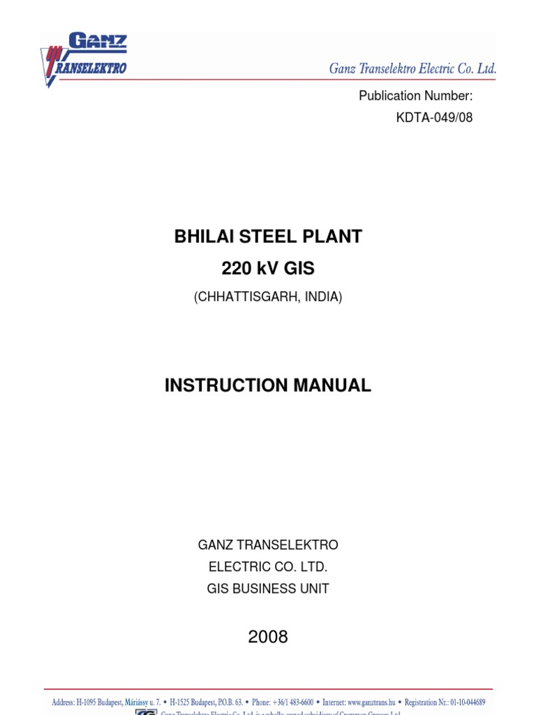 220kv gis installation and testing procedure electrical substation rh es scribd com gis substation installation manual gis substation installation manual