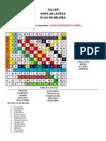 crucigrama organizacional