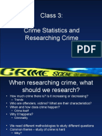 Class 3 Crime statistics and research