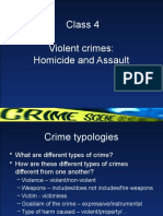 Class 4 Homicide and Assault