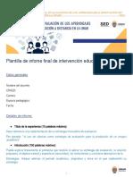 Plantilla de informe curso Normas Académicas SED