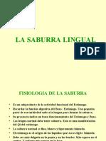 LA SABURRA LINGUAL