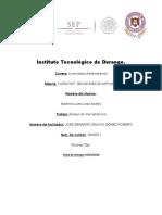 Instituto Tecnológico de Durang ensayo de mtk