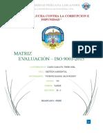 TRABAJO MATRIZ DE EVALUACIÓN - VICENTE - B3 - GESTIÓN AMBIENTAL