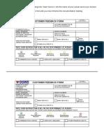 FO1-GF-07 - REV 00 - Customer Feedback Form