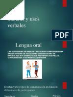 Saberes y usos verbales