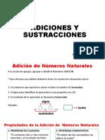 ADICIONES Y SUSTRACCIONES (Aplicaciones)
