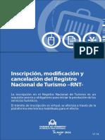 INSCRIPCIÒN, MODIFICACIÒN YCANCELACIÒN DEL REGISTRO NACIONAL DE TURISMO- RTN