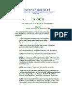 EO292 - Admin Code Book II