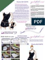 Instrucciones-de-Costura-del-conjunto-de-pijama-deportiva-de-top-y-short-mj1239tspijamas
