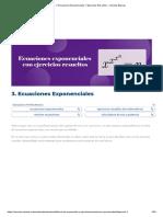 Ecuaciones Exponenciales Y Ejercicios Resueltos - Ciencias Básicas