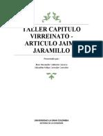 TALLER VIRREINATO - ARTICULO JAIME JARAMILLO