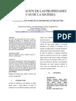 Informe Propiedades fisicas de la materia. Punto de ebullición de la urea (1)