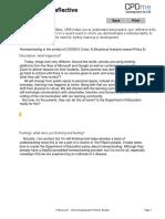 Concept 2. Gibbs Reflective Practice Template