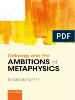 Hofweber, Thomas - Ontology and the ambitions of metaphysics-Oxford University Press (2016).pdf.pdf