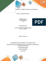 LEGISLACION COMERCIAL Y LABORAL APLICADA A LOS NEGOCIOS fase 5 evaluacion final