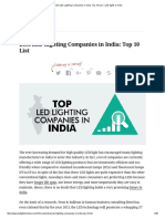 Best LED Lighting Companies in India_ Top 10 List – LED lights in India
