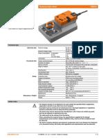 Belimo Damper Actuator GM24A (Datasheet - 2007)