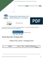 Prêmio FNLIJ - 2019 - Produção 2018
