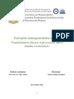 Proiect - Principiile managementului calitatii