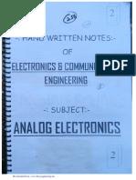 EC 2.Analog Electronics- By rajesh