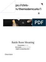 raido rune meaning the modern curio