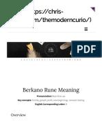 Berkana rune meaning the modern curio