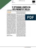 Giuseppe Ottaviani a quota 104