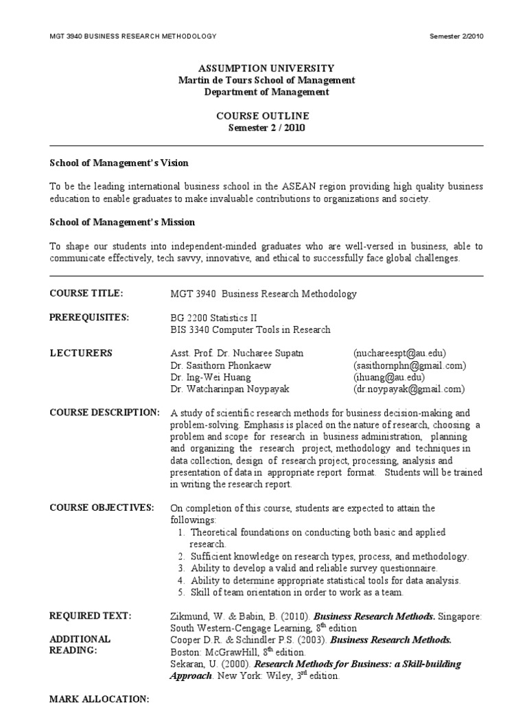 course outline for mgt 602 1