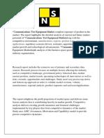 Communications Test Equipment Market Research