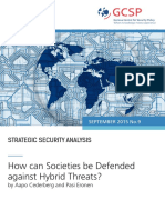 GCSP Strategic Security Analysis - How can Societies be Defended against Hybrid Threats
