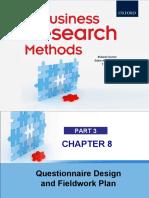 Chapter 8 Questionnaire Design and Fieldwork Plan